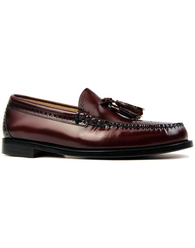 Larkin Brogue BASS WEEJUNS Mod Tassel Loafers (W)