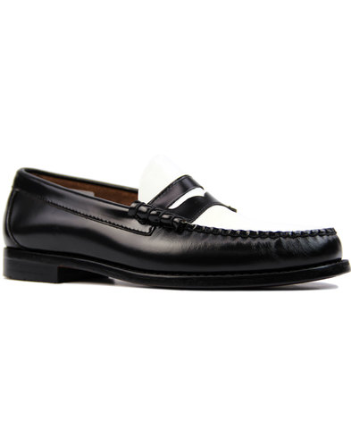 Larson BASS WEEJUNS 60s Mod 2-Tone Penny Loafers