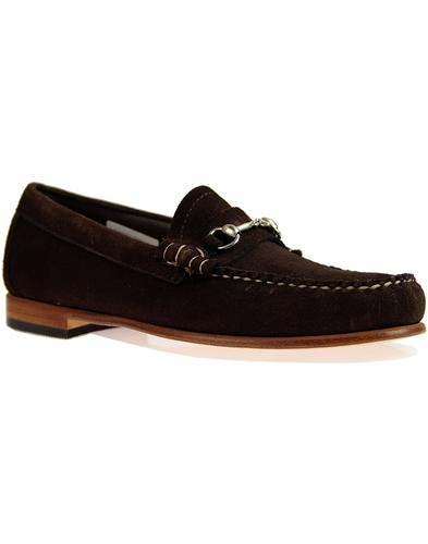 Lincoln Reverso BASS WEEJUNS 60s Suede Loafers BR
