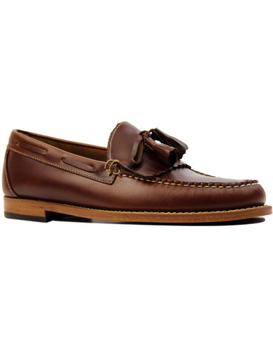 Layton Pull Up BASS WEEJUNS Moc Kiltie Loafers MB