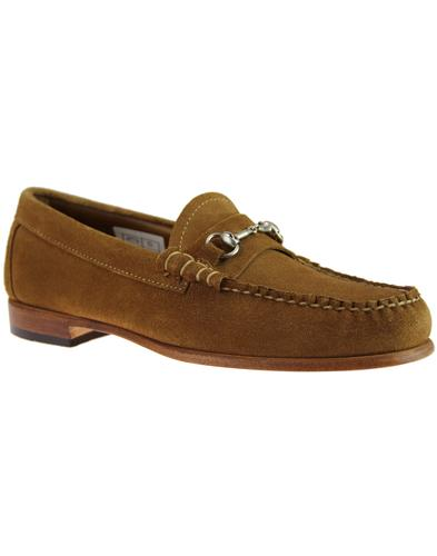 Lincoln Reverso BASS WEEJUNS Mod Suede Loafers TAN