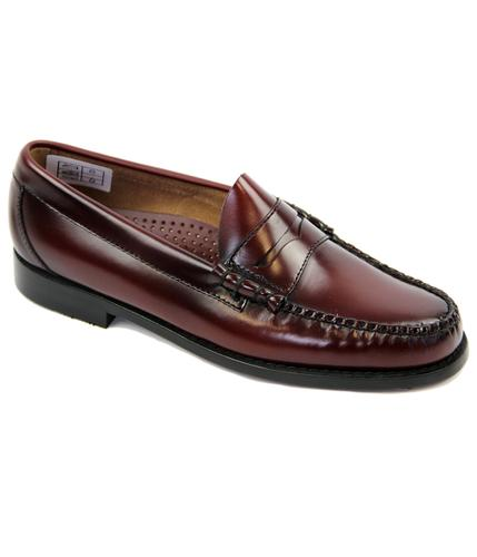 BASS WEEJUNS LARSON MOD PENNY LOAFERS WINE