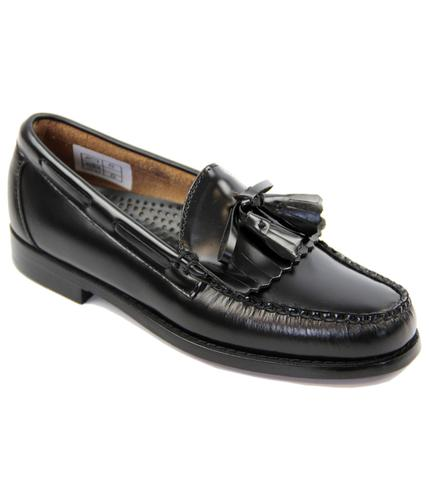 BASS WEEJUNS LAYTON TASSEL MOC LOAFERS BLACK