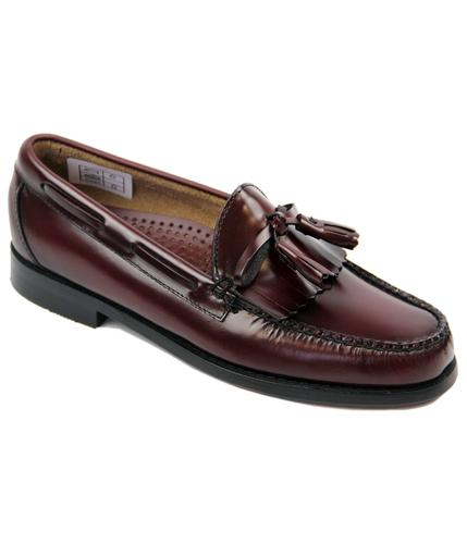 BASS WEEJUNS LAYTON TASSEL MOC LOAFERS WINE