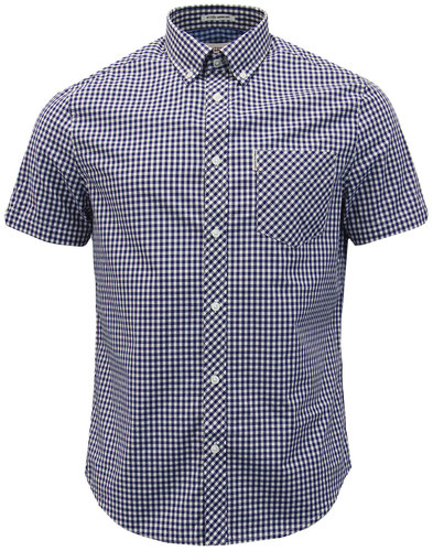 BEN SHERMAN Classic Mod Button Down Gingham Shirt