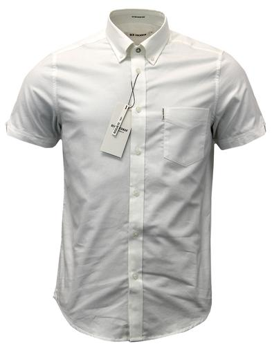 BEN SHERMAN Retro Mod S/S True Oxford Shirt (BW)