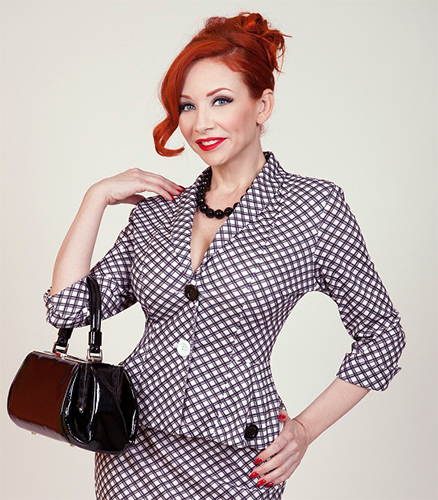 Checkers BETTIE PAGE Retro 50s Plaid Blazer Jacket