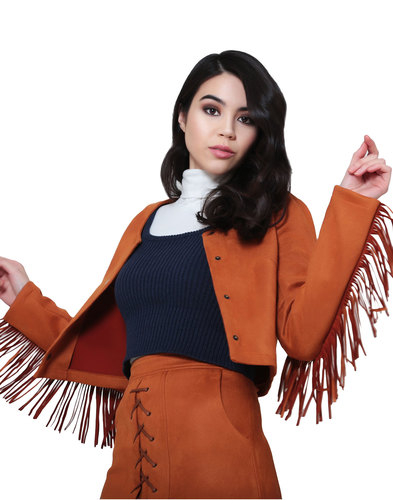 bright & beautiful retro 70s vintage tassel jacket