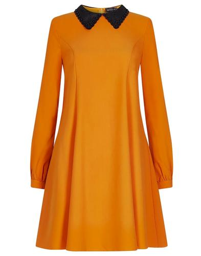 Bright and Beautiful Retro 60s Dolly Collar Dress