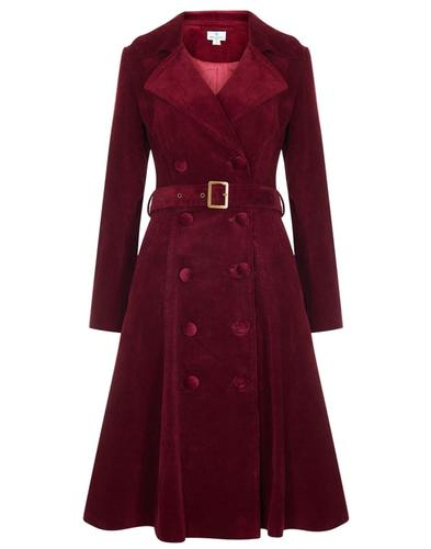Bright and Beautiful Retro 70s Cord Coat Burgundy