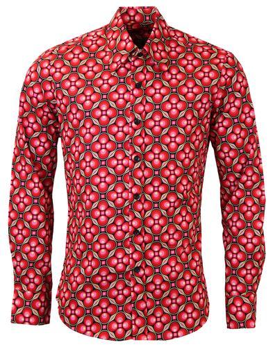 Chenaski mens 60s 70s shirts retro clothing bags and jeans dotsgrid chenaski retro 70s style mod shirt br sciox Image collections