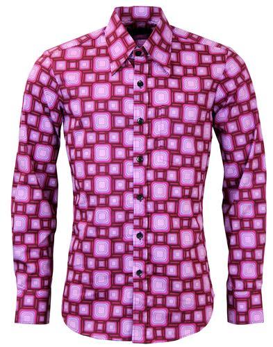Chenaski mens 60s 70s shirts retro clothing bags and jeans box tops chenaski retro 70s geometric shirt bordo sciox Image collections