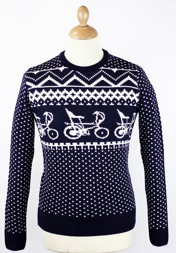 Proper Chopper Christmas Retro 70s Indie Jumper
