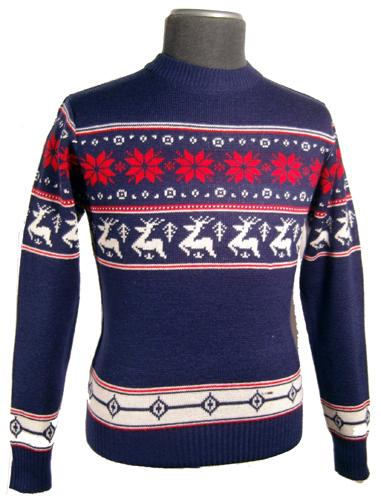 'Reindeer Jumper' - Retro Woolly Winter Jumper (N)