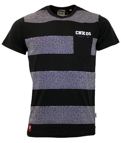 CHUNK Retro Eighties Maze Print Pocket T-Shirt