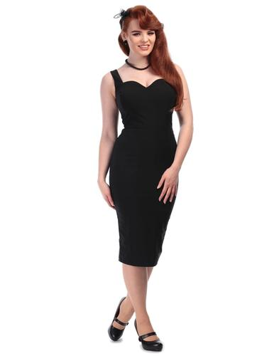 Collectif Retro 50s Black Pencil Dress Summer