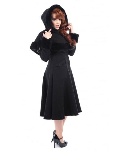 Collectif Retro Vintage Princess Coat Black