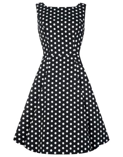 Hepburn COLLECTIF Retro 50s Polka Dot Summer Dress