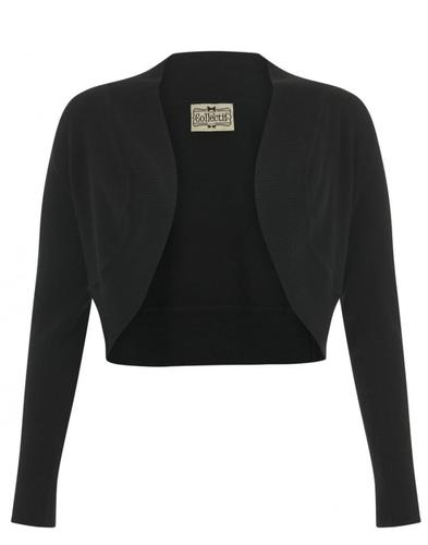 Collectif Retro 50s Jean Bolero Cardigan Black