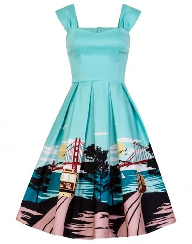 Jill COLLECTIF San Francisco Print Retro 50s Dress