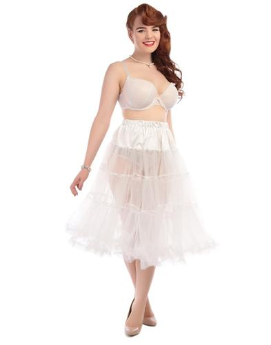 Collectif Retro 50s Petticoat Swing Dress White