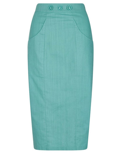 Talis COLLECTIF Vintage 1950s Plain Pencil Skirt