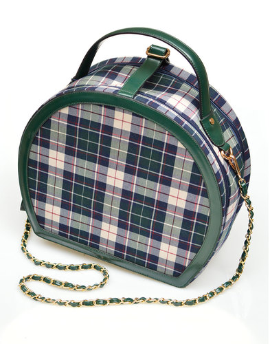 Rachel COLLECTIF Retro 50s Check Travel Bag GREEN