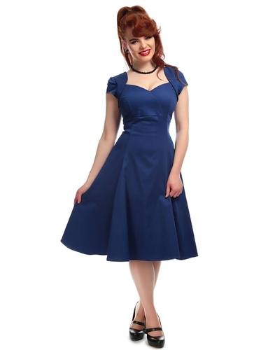 Regina COLLECTIF Retro 50s Vintage Doll Dress Blue
