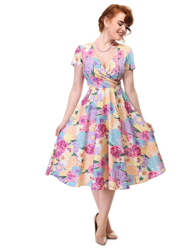 Maria COLLECTIF Retro English Garden Swing Dress