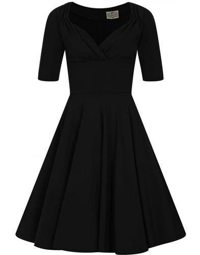 Collectif Retro 50s Tixie Doll Cirlce Dress Black