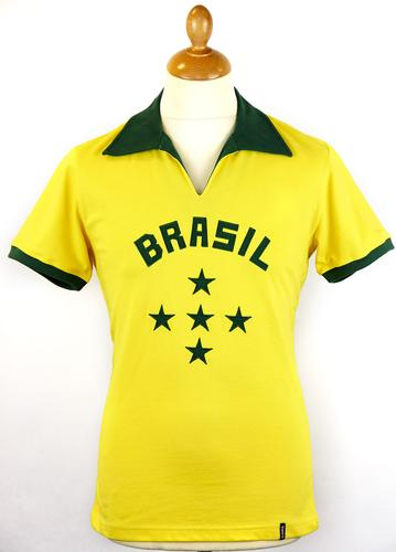 Brazil COPA Retro 1960s Indie Football Shirt (Y)