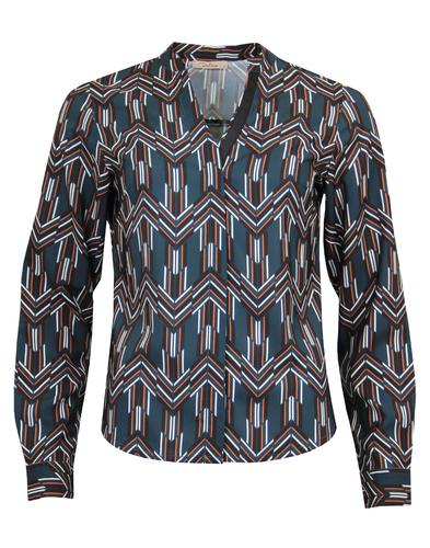 Harley DARLING Retro 70s Herringbone Op Art Shirt