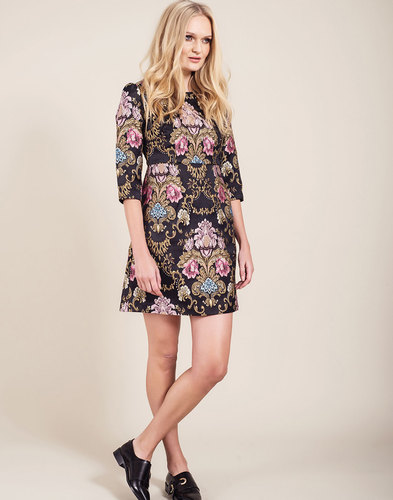 Hepburn DARLING Retro Vintage Embroidered Dress