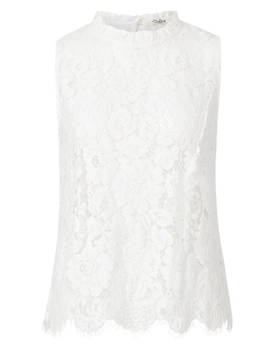 Fredrika DARLING Retro Floral Lace Sleeveless Top