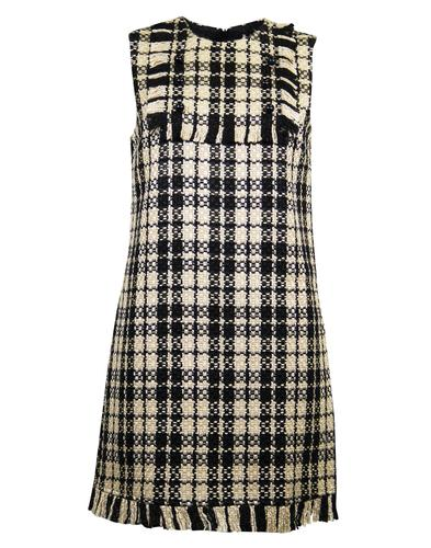Viv DARLING Retro 1960s Mod Boucle Check Dress