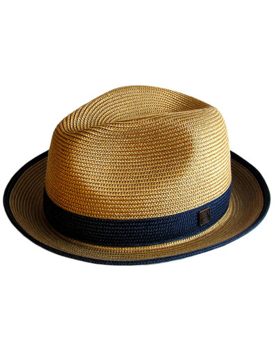 Florence DASMARCA Retro Mod Weave Trilby Hat RUST