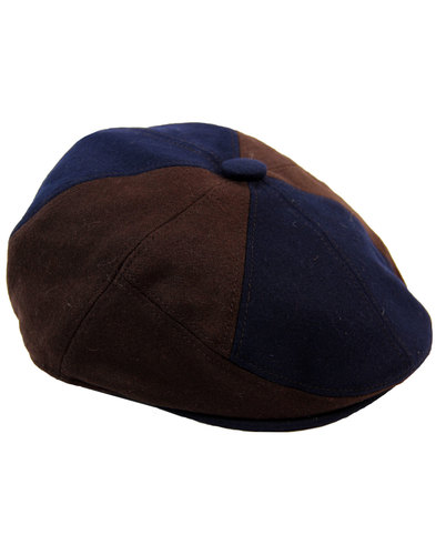 Giles DASMARCA Retro 8 Panel Wool Blend Flat Cap