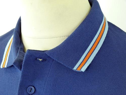 DAVID WATTS Retro Mod British Made Pique Polo (N)