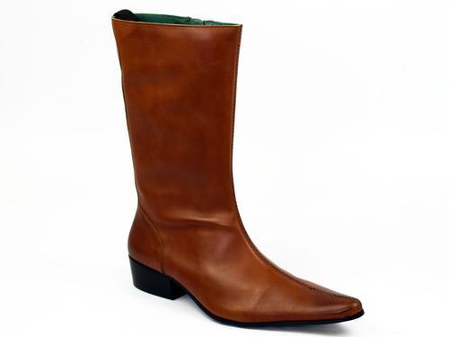 Donovan DJ Retro Mod High Chelsea Beatle Boots T