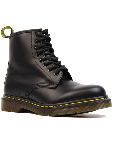 1460 DR MARTENS Womens Mod Black Leather Boots