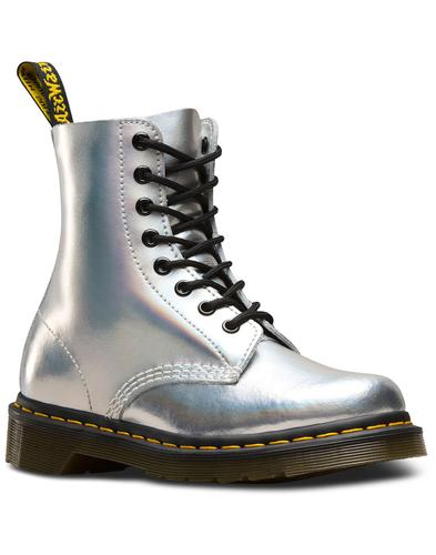 1460 Pascal DR MARTENS Iced Metallic Boots SILVER