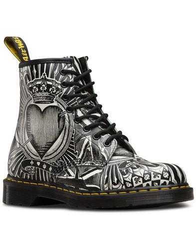 dr martens 1460 womens retro playing cards boots