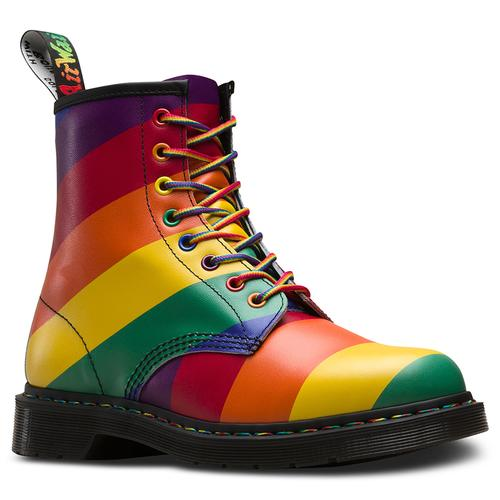 5522a29e10a8 dr martens 1460 pride rainbow stripe ankle boots