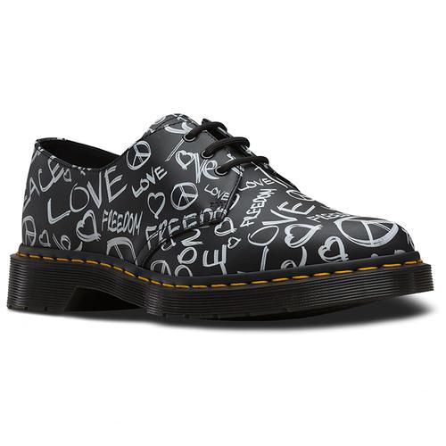 23ea5effb78 dr martens 1461 retro 60s protest shoes black