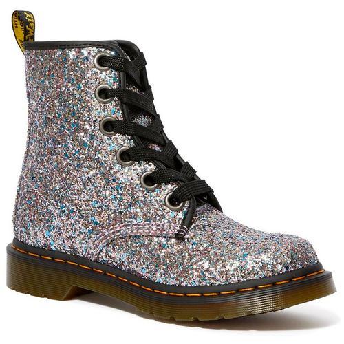 bb3e1691425b Dr Martens 1460 Farrah Retro 1970s Chunky Glitter Boots in Blue