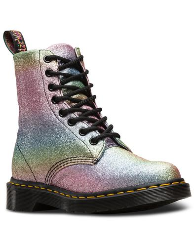 Pascal Rainbow Glitter DR MARTENS Retro 70s Boots