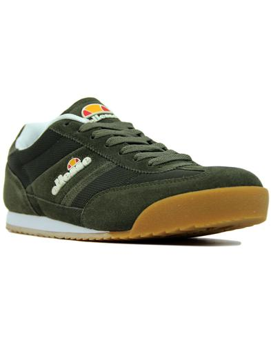 ellesse forza retro 1970s running trainers green