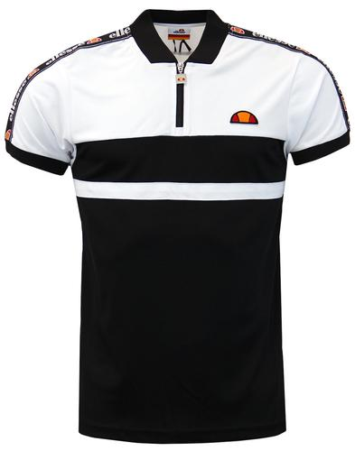 Gatlin ELLESSE Retro Sports Zip T-Shirt in White