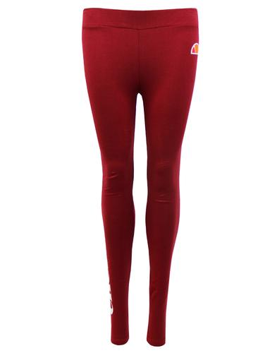 Solos ELLESSE WOMENS Retro 80s Logo Leggings RED
