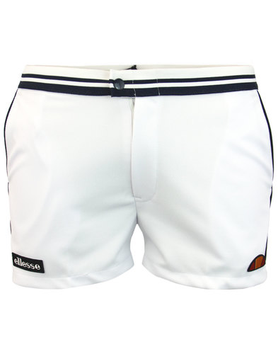 Tortoreto ELLESSE Retro 1980s Tennis Shorts WHITE